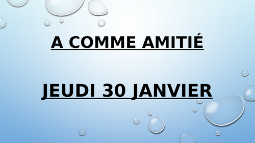 A comme amitie