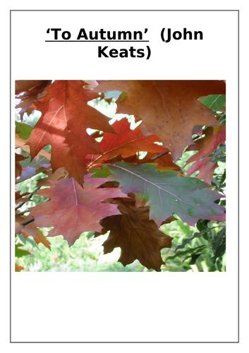 'To Autumn' Poem (John Keats) Comprehension Questions