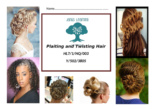 Plaiting and twisting hair