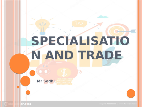 Specialisation and trade