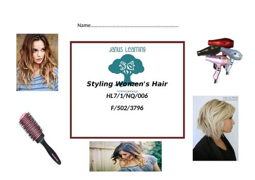 Styling women's hair