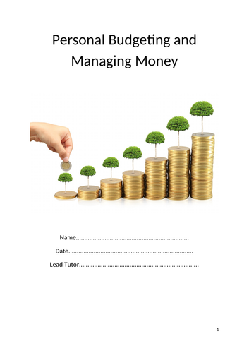 Personal budgeting and managing money