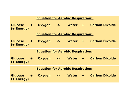 Aerobic/anaerobic respiration and recovery - 2 part lesson GCSE