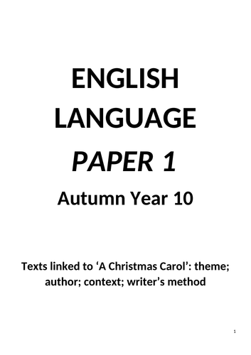 AQA English Language Paper 1 - booklet of sources