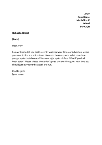 KS1 Dinosaur English Planning (persuasive letter)