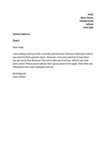 KS1 Dinosaur English Planning (persuasive letter) (3 of 7)