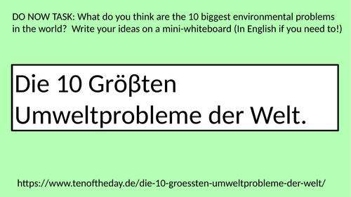 GCSE German Umwelt (Environment)