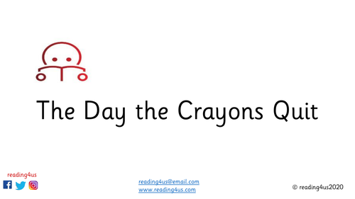 The Day the Crayons Quit Guided Reading