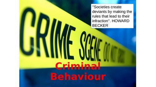 OCR GCSE 9-1 Psychology criminal behaviour catch up or revision lessons