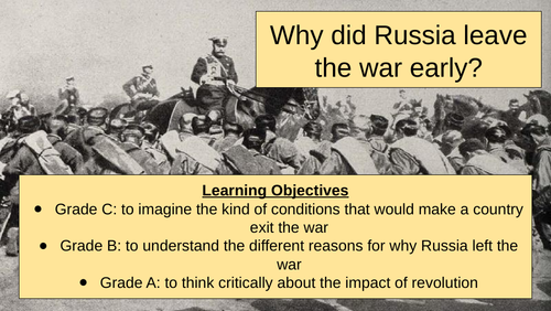 KS3 WW1 Why did Russia leave the war?