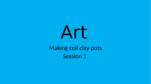 art - making coil pots