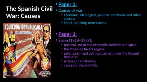 Spanish Civil War Causes