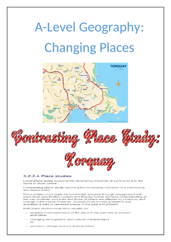 Changing Places - Distant place study - Torquay