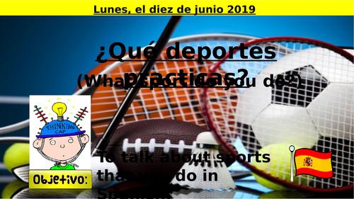 Los deportes - Spanish -  KS3