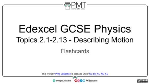 Edexcel GCSE Physics Flashcards