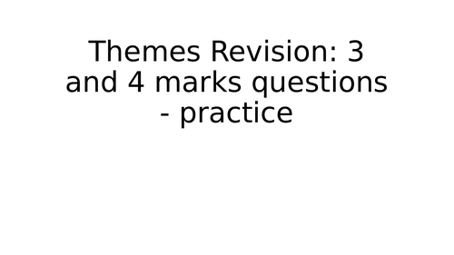 Revision for AQA Religious Studies A Themes