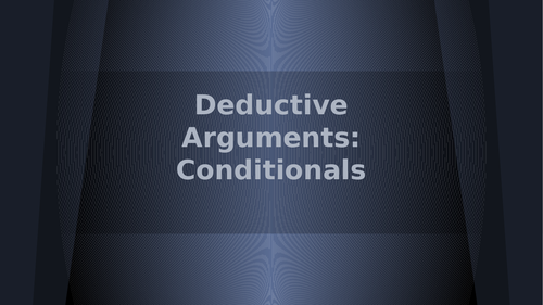 Conditional Arguments in Logic
