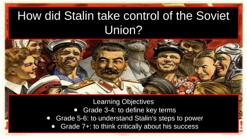 Edexcel iGCSE Stalin's steps to power lesson pack