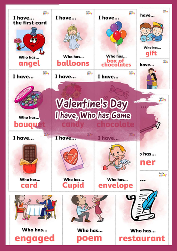 Valentine's Day I have, Who has Game