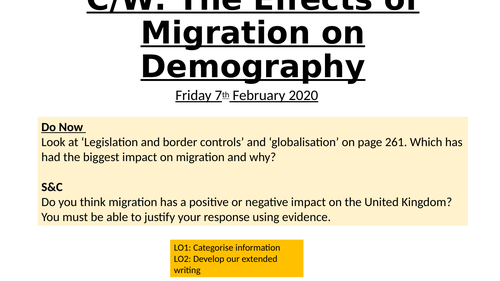 A Level Sociology - Migration, Families and Households AQA