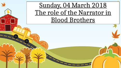 Blood Brothers The Role of the Narrator