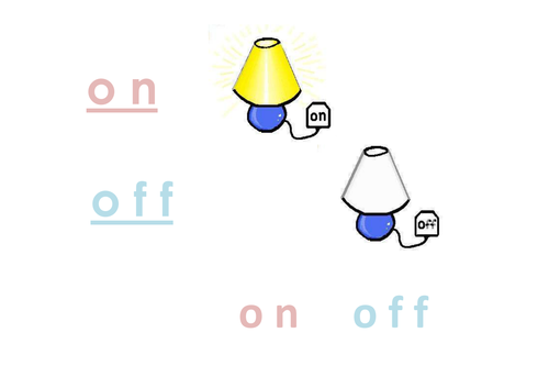 Phonic 'o' - on/off