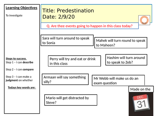 AQA Islam- Predestination