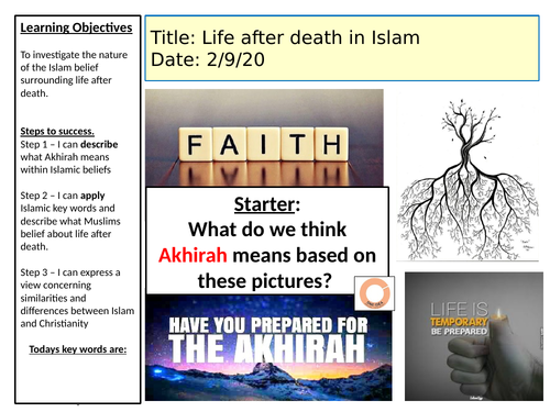 AQA religious studies- judgement + life after death