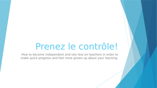 Make learners independent!