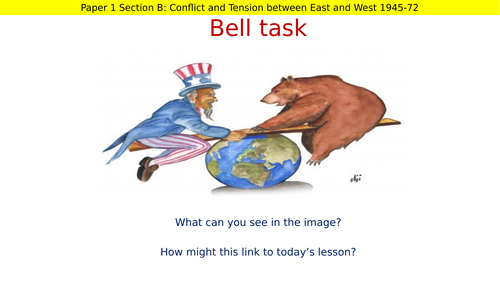 AQA Cold War - Differing Ideologies Intro Lesson