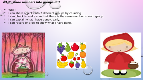 Little Red Riding Hood Sharing PPT Groups of two
