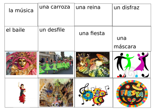 El Carnaval  - Vocabuary