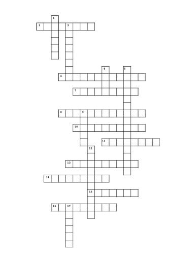 Poetic techniques crossword