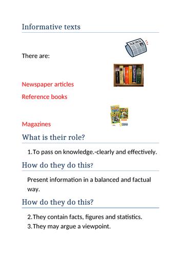 Informative texts