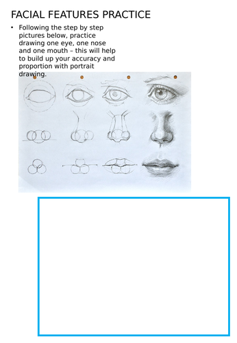 Portrait drawing practice - KS3