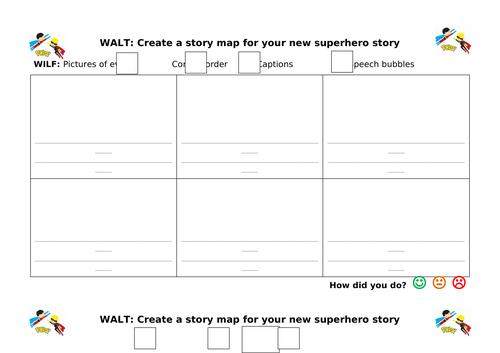 Create a new superhero story map