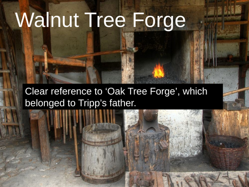 WJEC GCSE poetry 2021 - 'Walnut Tree Forge' by John Tripp PPT