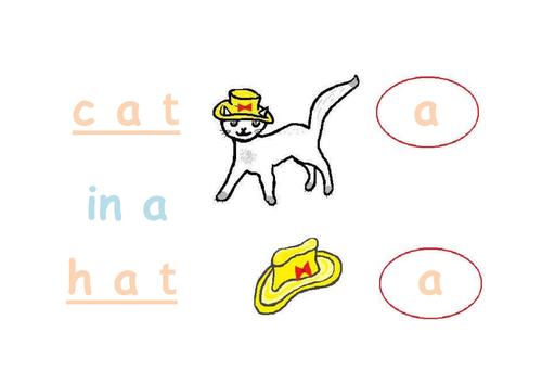 Phonic 'a' - cat in a hat