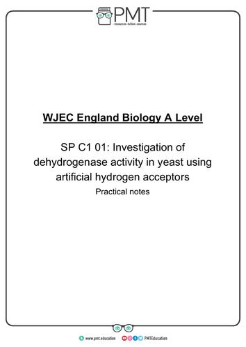 WJEC England/ Eduqas A-Level Biology Practical Notes