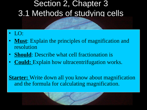 AQA AS Biology Cell structure
