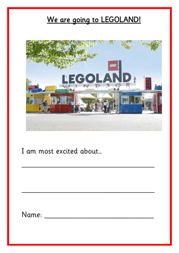 Activity Booklet for KS1 Legoland Trip