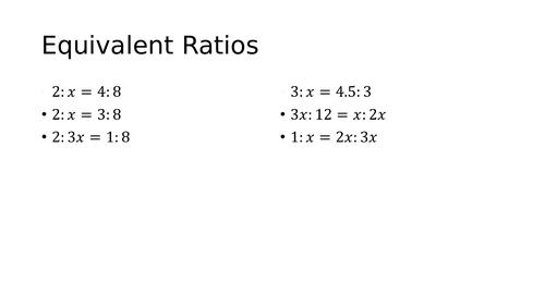 Quadratic Equations and ratio