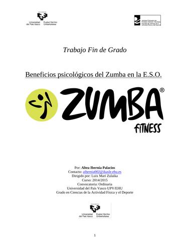 Beneficios psicológicos del Zumba en la E.S.O.