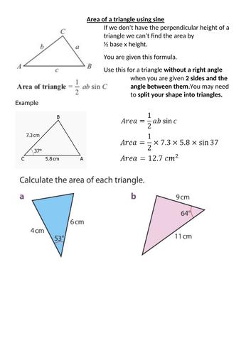 Cosine & Sine Rule - Further Trig GCSE