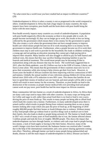 World issue - Higher modern studies essay