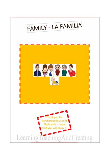 FAMILY FLASH CARDS - LA FAMILIA - Family vocabulary