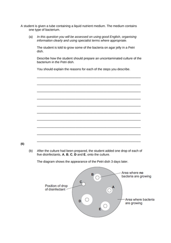AQA Biology Mock Paper 1