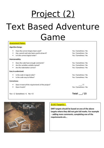 Python Project - Text Based Adventure Game