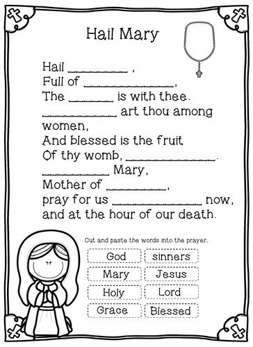 Hail Mary Worksheets