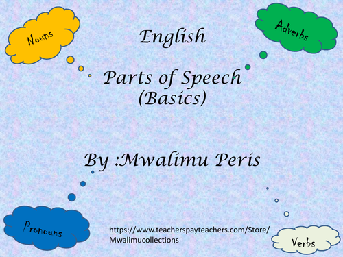 Parts of Speech Flipbook and worksheets